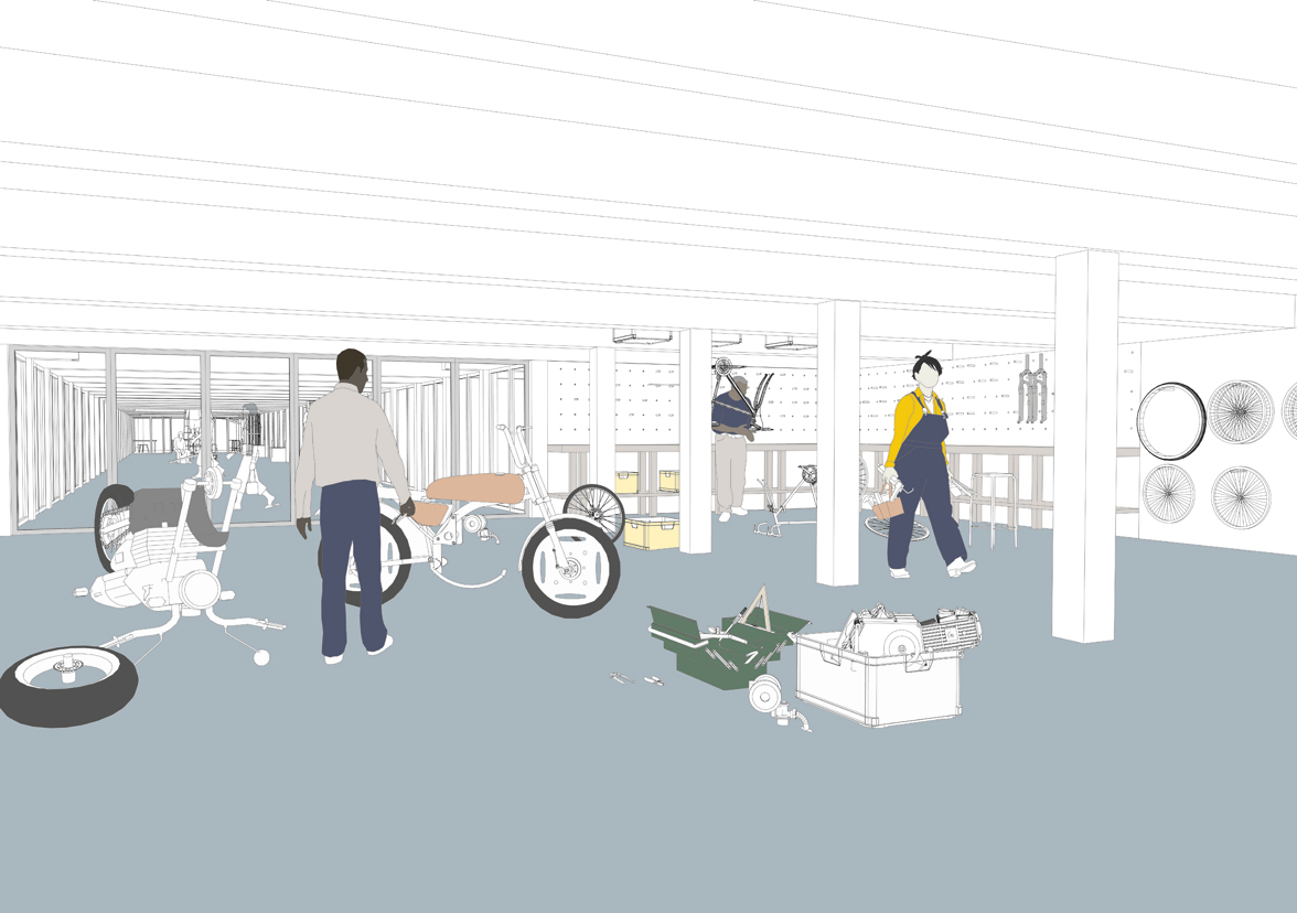 Livesey Exchange proposals will be part of an exhibition at the New London Architecture Centre